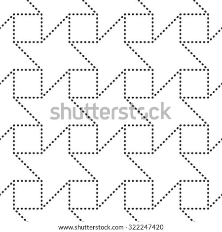 Vector seamless pattern, repeating geometric tiles