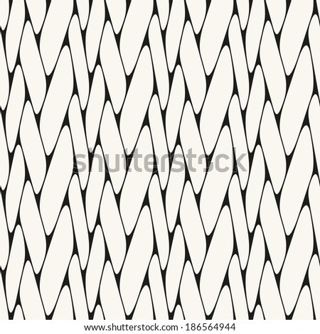 Vector seamless pattern. Repeating texture. Smooth grid - stock vector