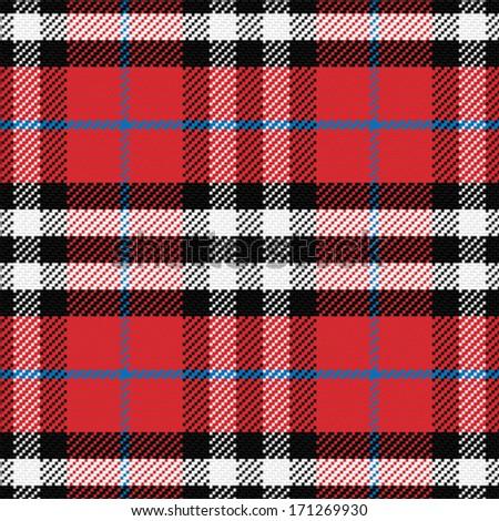 vector seamless pattern Scottish tartan 4, black, white, gray, red - stock vector