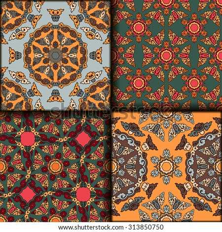 Vector seamless pattern set