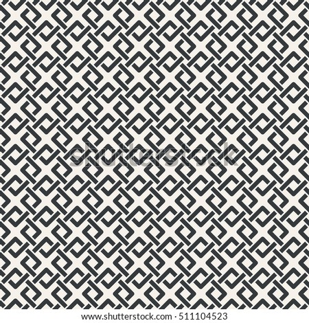 Vector seamless pattern. Simple minimal abstract geometric background. Modern stylish texture. Regularly repeating geometrical tiled grid with intersecting rhombuses, diamonds. Trendy design