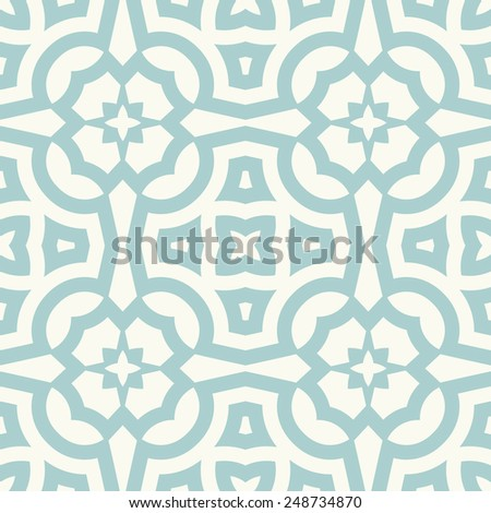 Vector seamless pattern. Stylish fabric print with abstract geometric design. - stock vector