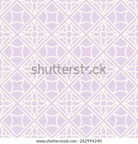 Vector seamless pattern. Stylish fabric print with lace geometric ornament. - stock vector