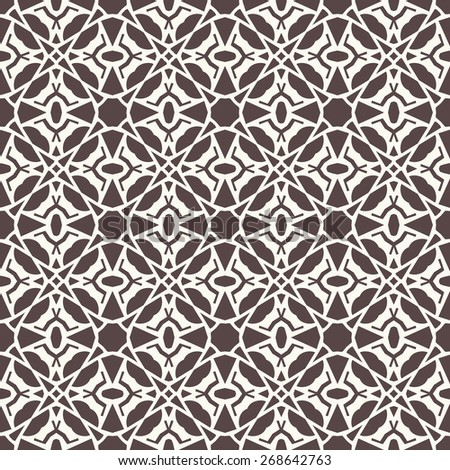 Vector seamless pattern. Stylish textile print with ethnic tribal design.