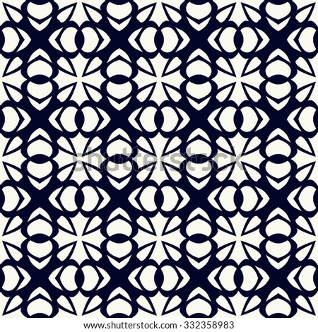 Vector seamless pattern. Stylish textile print with geometric design. Creative fabric background.