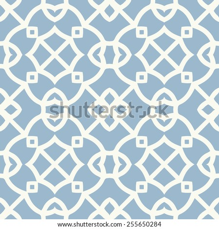 Vector seamless pattern. Stylish textile print with geometric eastern design. - stock vector