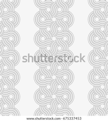 Vector seamless pattern. Stylish texture with figures from circles. Geometric lattice pattern.
