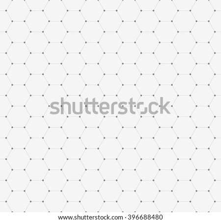 Vector seamless pattern, texture. Repeating hexagonal tiles.