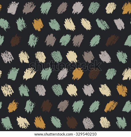 vector seamless pattern witch sketch pastel texture - stock vector