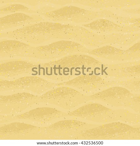 Vector seamless pattern with beach sand. - stock vector