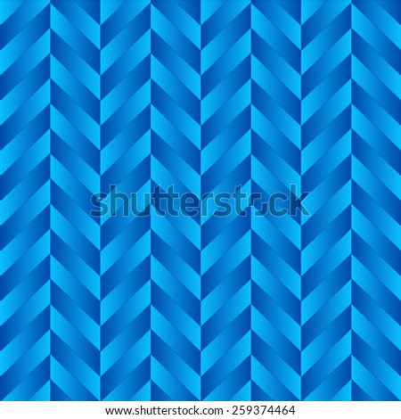 Vector seamless pattern with blue gradient quadrangles - stock vector