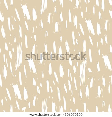 Vector seamless pattern with calligraphic pen stroke on beige background.