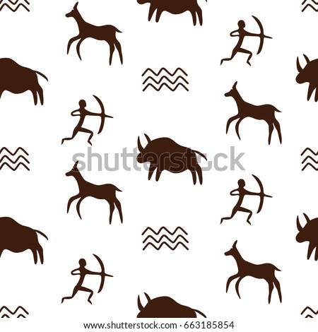 how to draw cave art animals