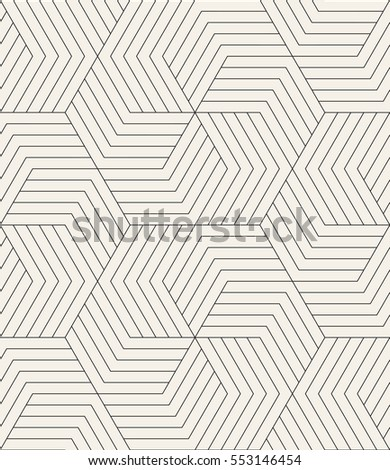 Vector seamless pattern with chevron. Modern geometric texture. Repeating abstract background. Polygonal linear grid with striped elements.