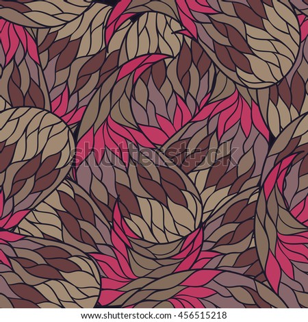 Vector seamless pattern with colored abstract waves