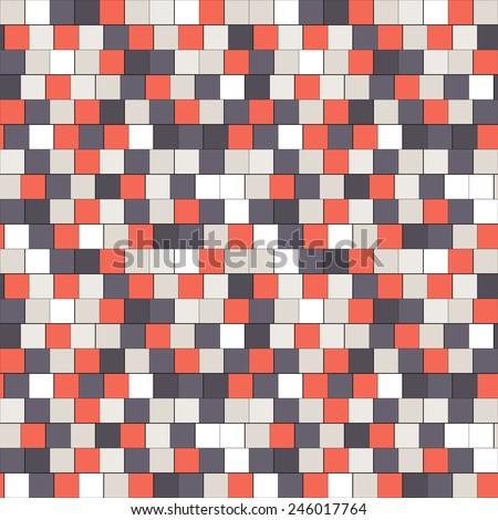 modern carpet texture. Vector Seamless Pattern With Colorful Squares. Modern Stylish Texture. Repeating Geometric Tiles. Randomly Carpet Texture