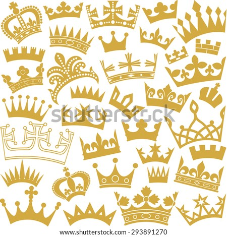 vector seamless pattern with crown (seamless background with crown) - stock vector