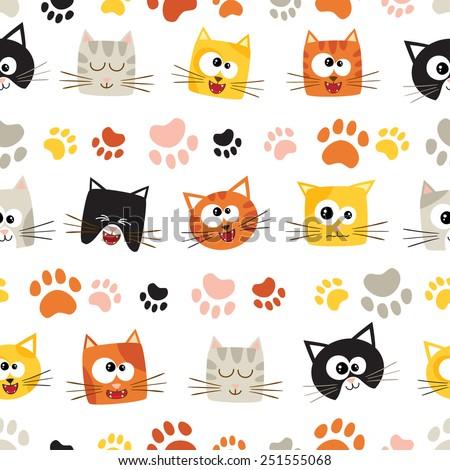Cat cartoon stock images royalty free images vectors - Cartoon cat background ...