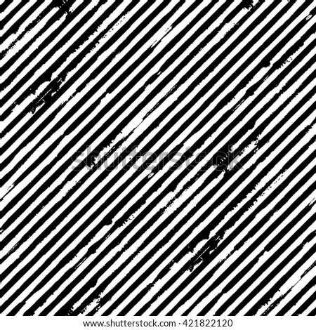 Vector seamless pattern with diagonal grunge stripes - stock vector