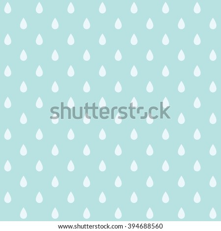 Vector seamless pattern with drops. Cute simple background - stock vector
