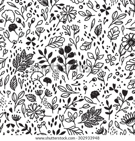 Vector seamless pattern with flower. Can be used for desktop wallpaper or frame for a wall hanging or poster,for pattern fills, surface textures, web page backgrounds, textile. - stock vector