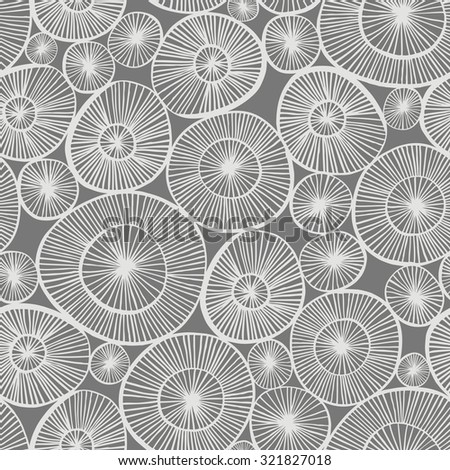 Vector seamless pattern with hand drawn circle elements.