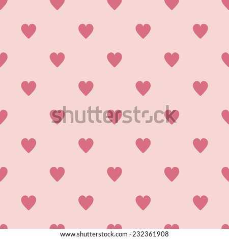 vector seamless pattern with hearts - stock vector