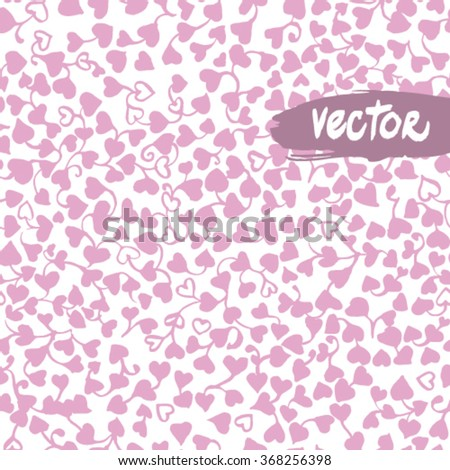 Vector seamless pattern with hearts. - stock vector