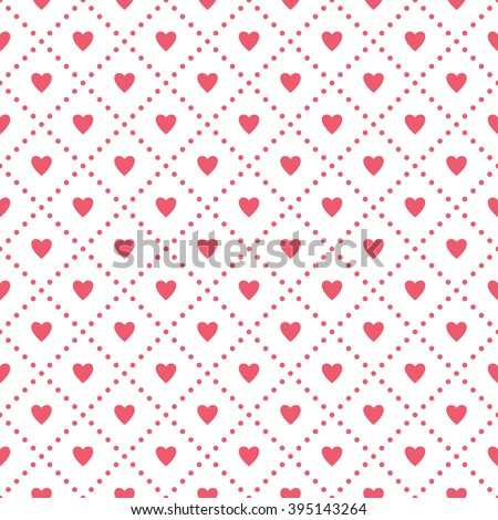 Vector seamless pattern with hearts. Holiday repeating texture for St. Valentine's Day. Simple stylish background. - stock vector
