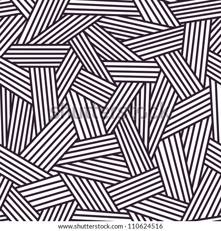 Vector seamless pattern with interweaving of lines. Traditional hatching of architectural hand drawn graphic. Simple abstract ornamental black and white illustration with stylized grass and covering