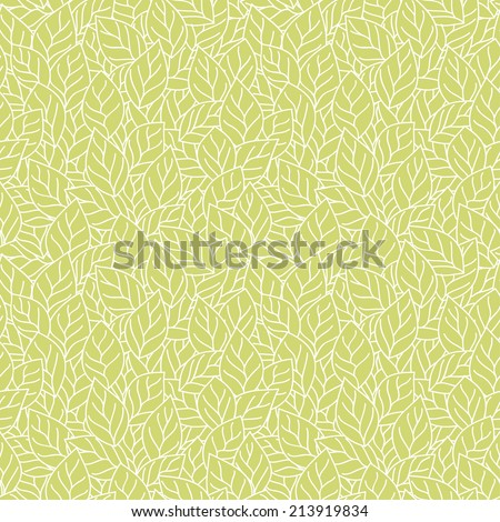 Vector seamless pattern with leaves. - stock vector