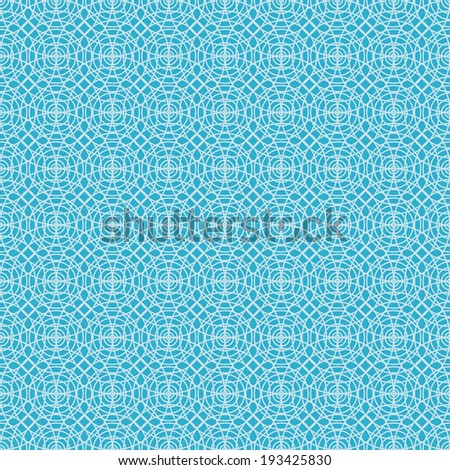 Vector seamless pattern with linear concentric circles. Abstract blue background for print and web