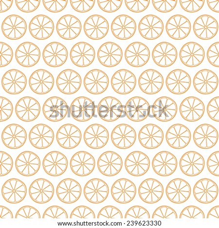 vector seamless pattern with orange - stock vector