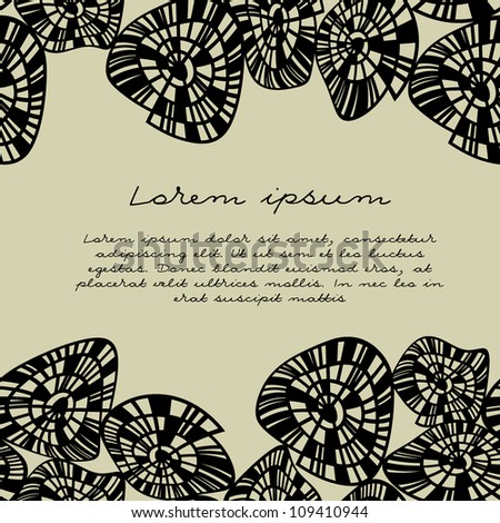 vector seamless pattern with shells. modern stylish texture. endless border - stock vector