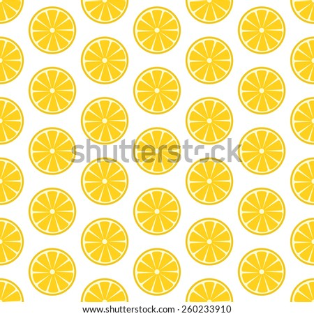 Vector seamless pattern with sliced oranges. Vector illustration. Design element for  for cafe or restaurant or web and print design - stock vector