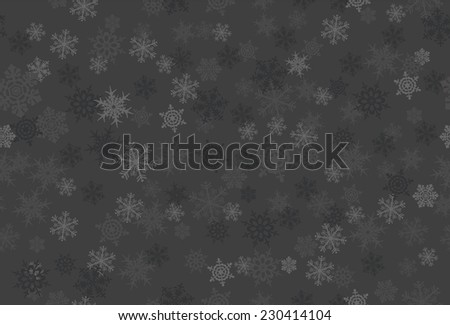 Vector seamless pattern with snowflakes - stock vector