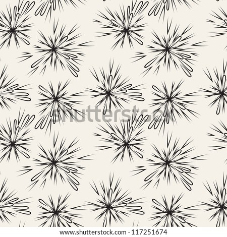 Vector seamless pattern with splashes - stock vector
