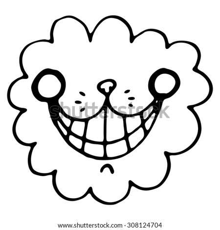 Vector seamless pattern with the smile of  a cheshire cat for tale Alice in Wonderland - stock vector