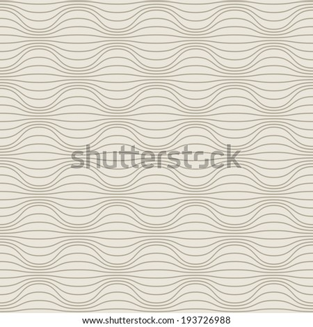 Vector seamless pattern with wavy lines. Illustration with texture for print, web. Background with optical effect of volume