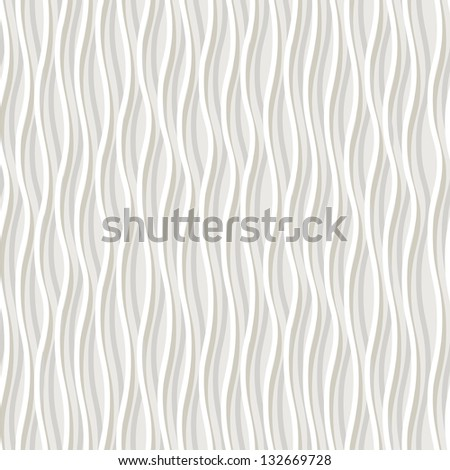 Vector seamless pattern with wavy stripes. Modern stylish texture. Repeating pastel background - stock vector