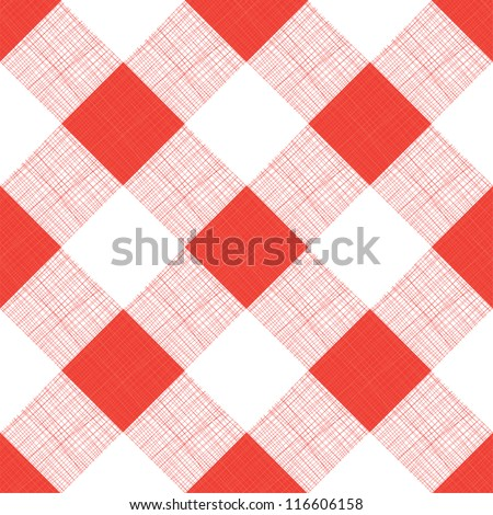 Vector Seamless Picnic Tablecloth Pattern - stock vector
