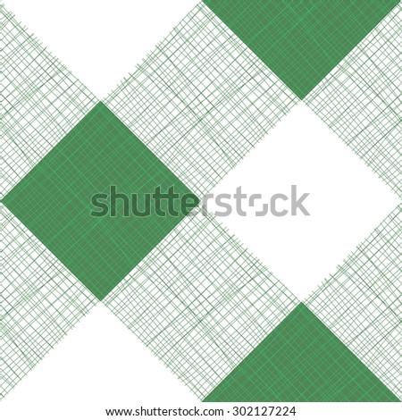 Vector Seamless Picnic Tablecloth Pattern  - stock vector
