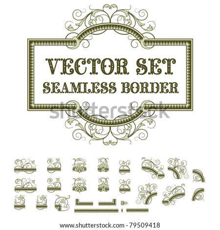 Vector seamless plants pattern in vintage style - stock vector