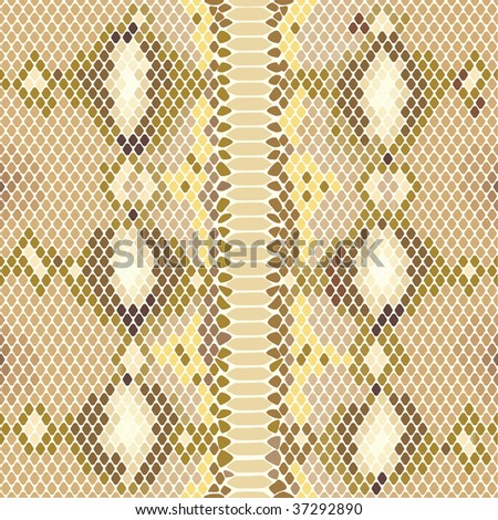 Vector Seamless rare Python snake pattern. Editable! - stock vector