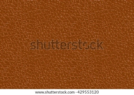 Vector Seamless Realistic Leather Texture. Brown Background - stock vector