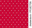 Vector seamless red polka-dotted background with white dots - stock vector