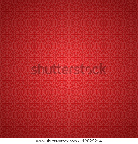 Vector seamless red snowflake background