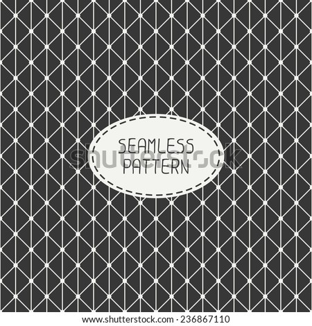 Vector seamless retro vintage geometric hipster line pattern. For wallpaper, pattern fills, web page background, blog. Stylish texture. - stock vector