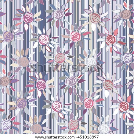 Vector seamless sample Floral Pattern.