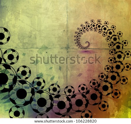 Vector seamless soccer texture sport background. - stock vector